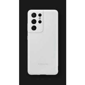 Silikonska maska za Samsung Galaxy S21 Ultra svijetlo siva EF-PG998TJEGWW