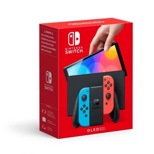 Nintendo Switch OLED Console - Red & Blue Joy-Con