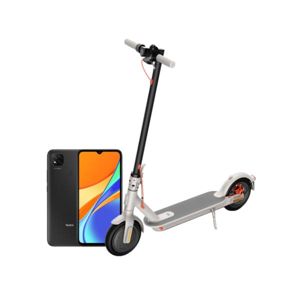 Električni romobil Xiaomi Mi Scooter 3 sivi + POKLON Xiaomi Redmi 9C NFC