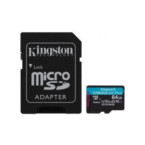 Kingston 64GB micSDHC Canvas Go Plus 170R/70W + ADP