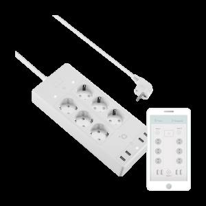 Acme SH3305 Smart Wifi EU Power Strip 6 outlets White