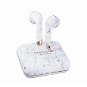 Happy Plugs Air1 Plus Earbud bežične slušalice bijelo mramorne