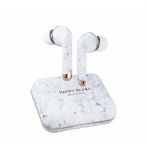 Happy Plugs Air1 Plus In-Ear bežične slušalice bijelo mramorne