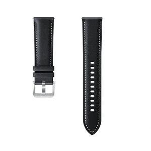 Dodatni kožni remen za Samsung Galaxy Watch 3 (22mm, M/L) crni ET-SLR84LBEGEU
