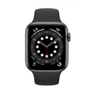 Apple Watch S6 GPS, 44mm Space Gray Aluminium Case with Black Sport Band - Regular