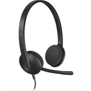 Logitech slušalice s mikrofonom USB H340