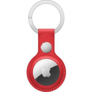 Apple AirTag Leather Key Ring - (PRODUCT)RED