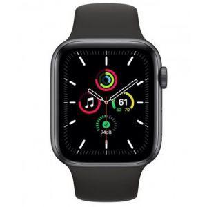 Apple Watch SE GPS, 44mm Space Gray Aluminium Case with Black Sport Band - Regular