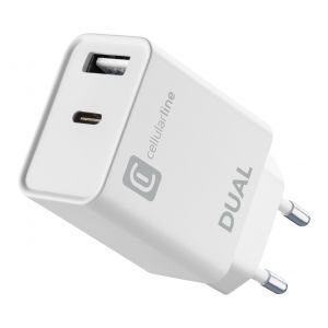 CELLULARLINE KUĆNI PUNJAČ IPHONE DUAL USB-A I USB-C 20W