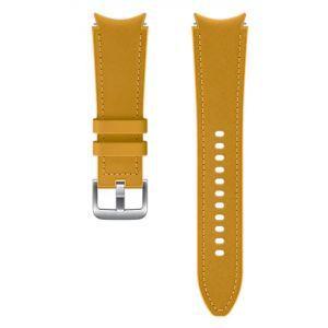 Dodatni kožni remen 20mm M/L za Samsung Galaxy Watch4 Classic mustard žuti ET-SHR89LYEGEU