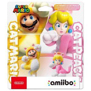 Amiibo Super Mario Cat Mario & Cat Peach (2 pack)
