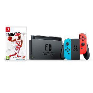 Nintendo Switch Console - Red & Blue Joy-Con HAD NBA 2K21 Bundle