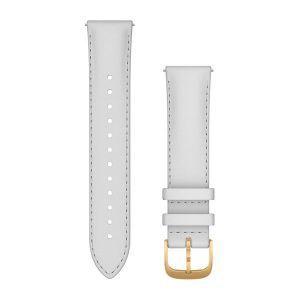 Zamjenski remen Garmin za vivomove3S/3/Style 20mm - White Leather (Gold kopča)