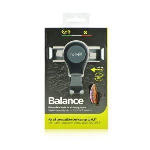 Fonex Balance univerzalni auto držač za ventilaciju za uređaje do 6.5 crni