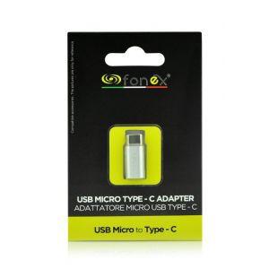 Fonex adapter Micro-USB ž na Type-C m crni