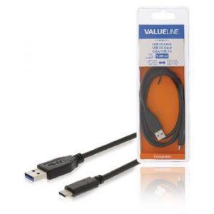 Value Line VLCB61600B10, USB 3.1 kabel, USB C m - USB A m, 1.0m