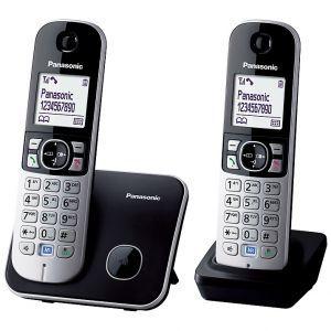 Telefon Panasonic KX-TG6812B crni, 2 slušalice