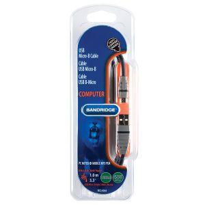 Bandridge BCL4901, Micro-B USB kabel, 1.0m