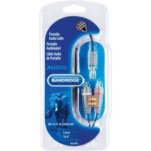 Bandridge audio kabel 3.5mm-2XRCA, 5.0m