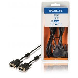 Value Line VLCB59000B20, VGA kabel, 2.0m, crni