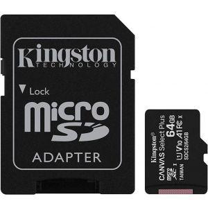Kingston 64GB micSDHC Canvas Select Plus 100R + ADP