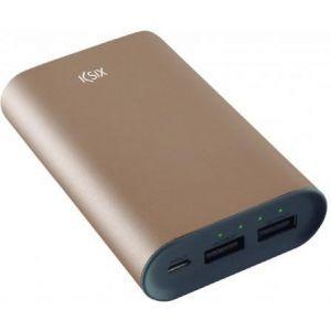 KSIX prijenosna baterija od 6000 mAh micro USB kabel zlatna