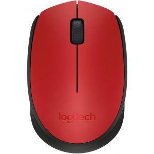 Logitech bežični optički miš M171 crveni