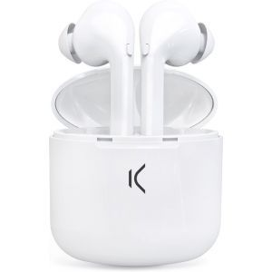 KSIX bežićne true buds slušalice sa mikrofonom bijele