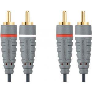 Bandridge audio kabel 2XRCA-2XRCA, 1.0m
