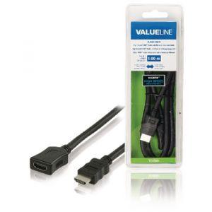 Value Line VLVB34090B10, HDMI produžni kabel, 1.0m