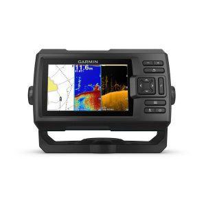 Fishfinder Garmin Striker Plus 5cv (s krmenom sondom CHIRP 77/200kHz/DownVü GT20-TM, 4-pin), GPS