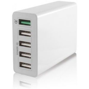 KSIX kućni punjač 5 x USB, 10A, QC 3.0, smart charge