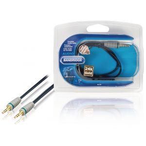 Bandridge BAL3300, audio kabel 3.5mm - 3.5mm, 0.5m