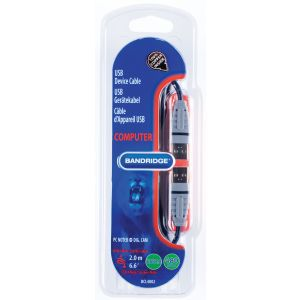 Bandridge BCL4802, USB 2.0 kabel A-A, 2.0m