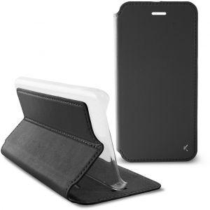 KSIX preklopna torbica za Xperia E5 crno/prozirna