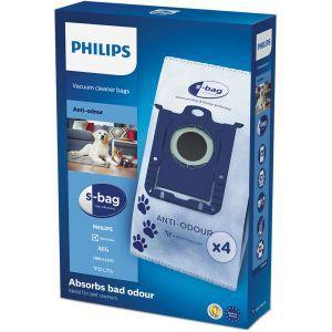 Vrečice za usisavač Philips FC8023/04 sintetičke, S-BAG, 4kom, apsorbira mirise