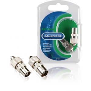 Bandridge BPP655 antenski konektori muški i ženski srebrni