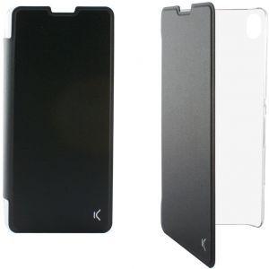 KSIX preklopna torbica za Xperia X crno/prozirna