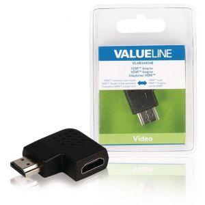 Value Line VLVB34904B, HDMI adapter sa desnim kutem