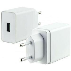 KSIX putni punjač USB QuickCharge 3.0 5V 2.4A, 9V 2A, 12V 1.5A bijeli