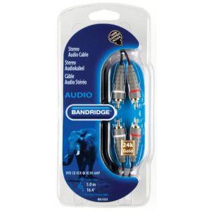 Bandridge audio kabel 2XRCA-2XRCA, 5.0m