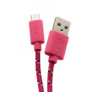 SBOX kabel USB -> Micro USB 1M Roza