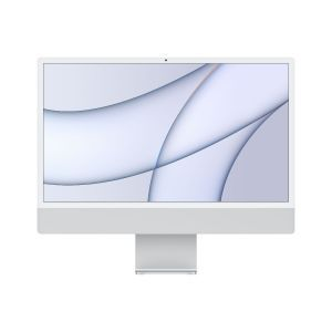 Apple 24-inch iMac with Retina 4.5K display: Apple M1chip with 8-core CPU and 7-core GPU, 256GB - Silver