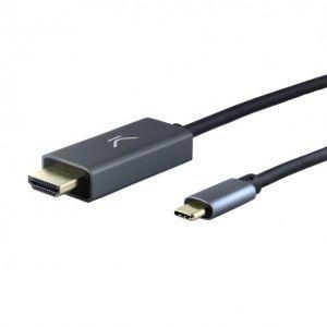 KSIX adapter kabel USB C na HDMI 2m crni 4K 10Gbps