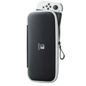 Nintendo Switch Carrying Case & Screen Protector Black & White