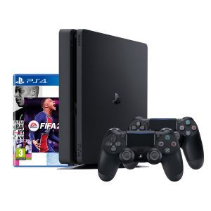 PlayStation 4 500GB F Chassis Black +FIFA 21 + PS Plus 14 Days voucher + dodatni DS4 kontroler