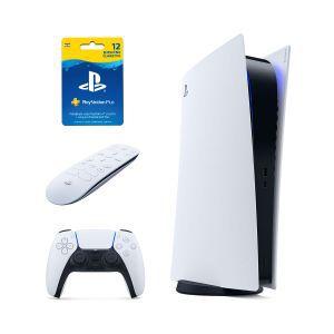 PlayStation 5 Digital Edition + PS5 Media remote + PS Plus 365 dana