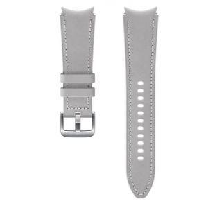 Dodatni kožni remen 20mm M/L za Samsung Galaxy Watch4 Classic srebrni ET-SHR89LSEGEU