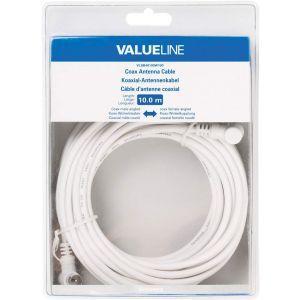Value Line VLSB40100W100 antenski kabel pod kutom 10.0m bijeli