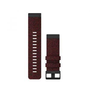 Zamjenski remen za Garmin Fenix 6x - Heathered Red Nylon Quickfit, 26mm